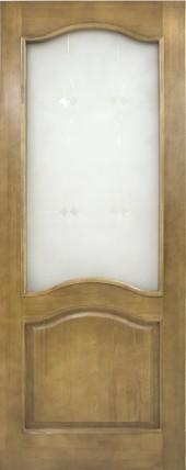 Дверь ДО 7 Светлый лак, Стекло мателюкс