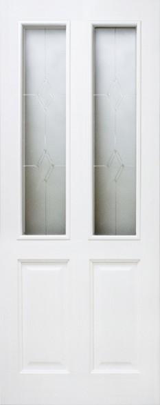 Дверь ДО 15 Белый лоск, Стекло Мателюкс