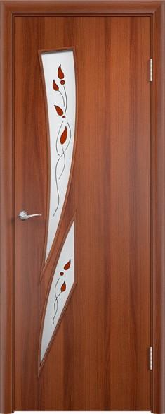 Дверь Verda ПО С2 Витраж Итальянский орех