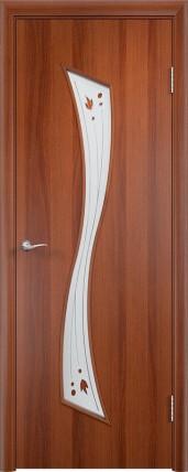 Дверь Verda ПО С19 Витраж Итальянский орех