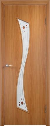 Дверь Verda ПО С19 Витраж Миланский орех