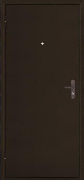 Дверь Стройгост 5-1 Металл/Металл, Медь антик, открывание внутрь